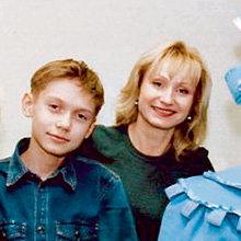 С сыном Сашей