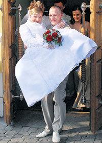 Дмитрий и Екатерина сыграли свадьбу весной 2008 года. Фото из архива