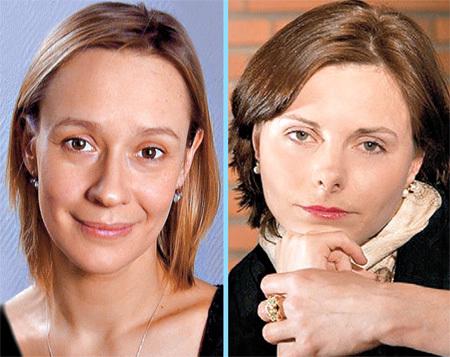 До того, как вступить в брак с выпускницей журфака МГУ Людмилой, КАЙКОВ успел дважды жениться: с однокурсницей Евгенией ДМИТРИЕВОЙ (слева) прожил два года, а с актрисой Анной МОХОВОЙ - семь