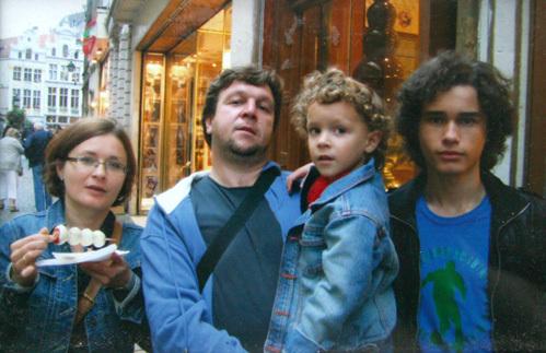С супругой Ирой и сыновьями Стёпой и Арсением