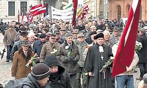 Недобитая сволочь торжествует победу (столица Латвии, март-2012)