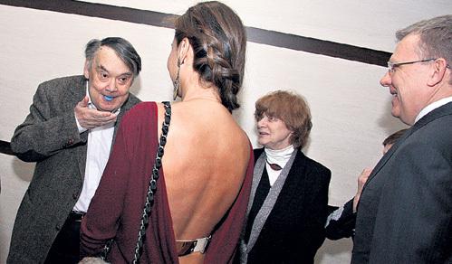 Алексей ГЕРМАН показал свой знаменитый фокус с пробкой во рту