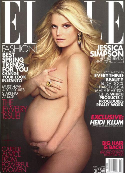 Накануне родов Джессика снялась обнажённой для обложки Elle.