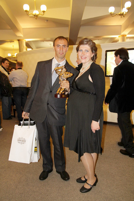 Екатерина ПОРУБЕЛЬ с мужем Анатолием