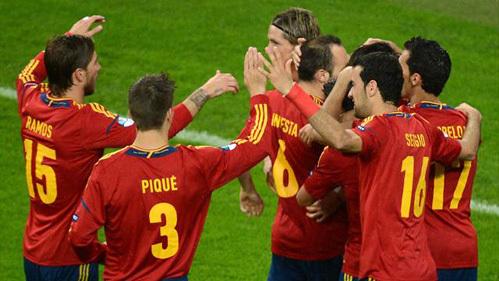 Испанцы занимают первое место в группе. Фото: РИА «Новости»