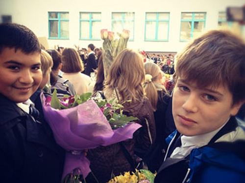 Сын Тина КАНДЕЛАКИ Леонтий пошел в пятый класс (фото из Твиттера Тины КАНДЕЛАКИ).