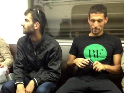 Динамовцы прокатились на метро. Фото: vk.com