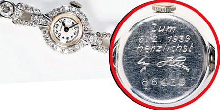 Эти часы фюрер подарил БРАУН на 27-й день рождения