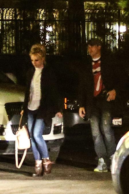 Бритни СПИРС со своим новым парнем Дэвидом на свидании 14 февраля
