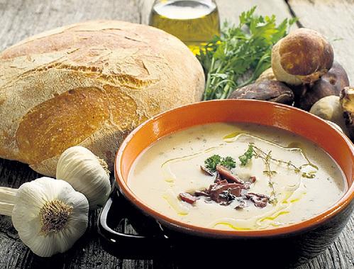 Грибной суп с картошкой и рисом