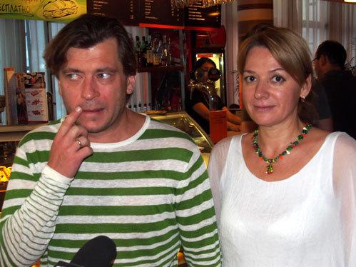 ЛЁВА БИ-2 с женой