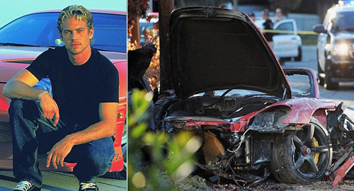 Машина, в которой разбился УОКЕР, превратилась в груду обугленных обломков.