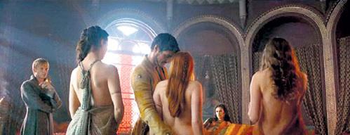 Шлюх в борделе Мизинца сыграли профессионалки (кадр из «Игры престолов»)