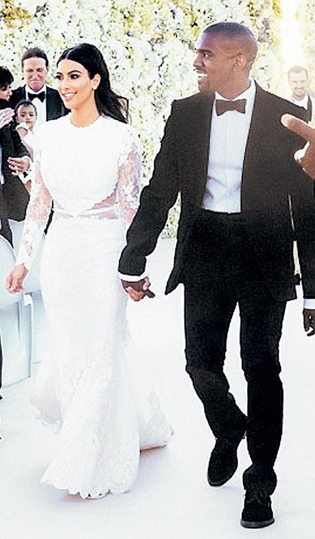Ким Кардашьян и Канье Уэст поженились изоражения
