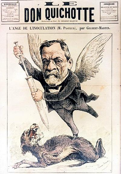 Француза Луи ПАСТЕРА, создавшего вакцину против бешенства в 1885 году, прозвали «ангелом прививки»