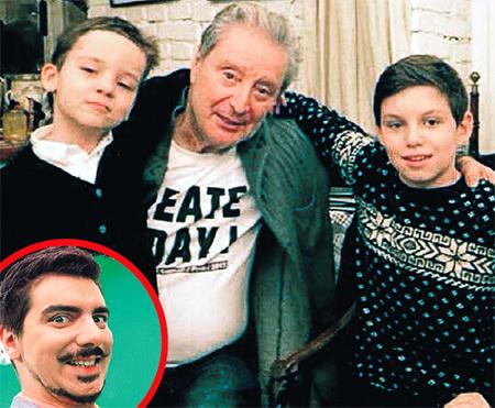 У мэтра трое внуков: Леонид, Макар и Артём