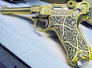 Наградной позолоченный пистолет лётчика люфтваффе