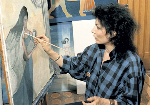 Помимо целительства, ДЖУНА всю жизнь занималась творчеством: рисовала, писала прозу и стихи. Фото: РИА «Новости»