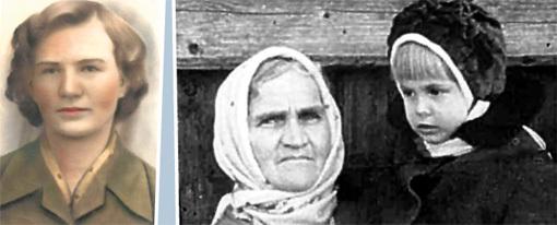 Первая гражданская жена Генриетта МЕНЬШИКОВА и тёща с дочкой Леночкой на руках