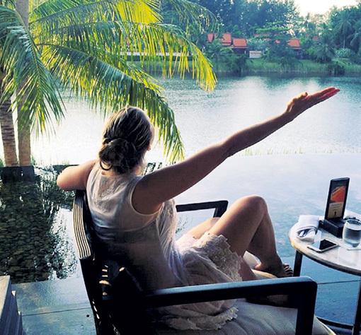 В Таиланде рядом с любимым человеком звезда чувствует себя как в раю. Фото: Instagram.com
