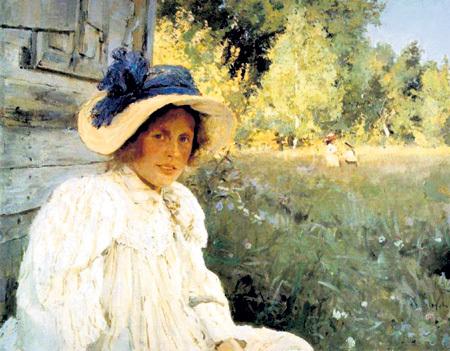 В 1889 году Ольга Фёдоровна ТРУБНИКОВА стала женой и любовью всей жизни СЕРОВА (картина «Летом», 1895)
