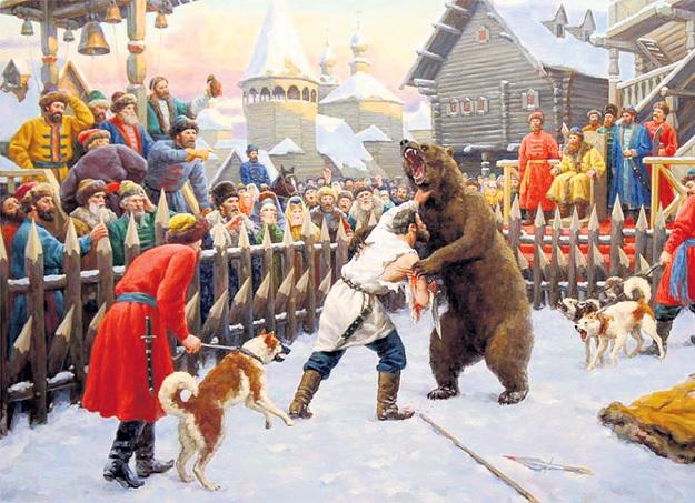 С голыми руками на медведя ходил - это скорее из разряда сказок (Владислав НАГОРНОВ «Бой с медведем»)