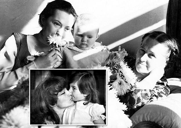 С дочками Наташей и Катей и мамой Анной Павловной