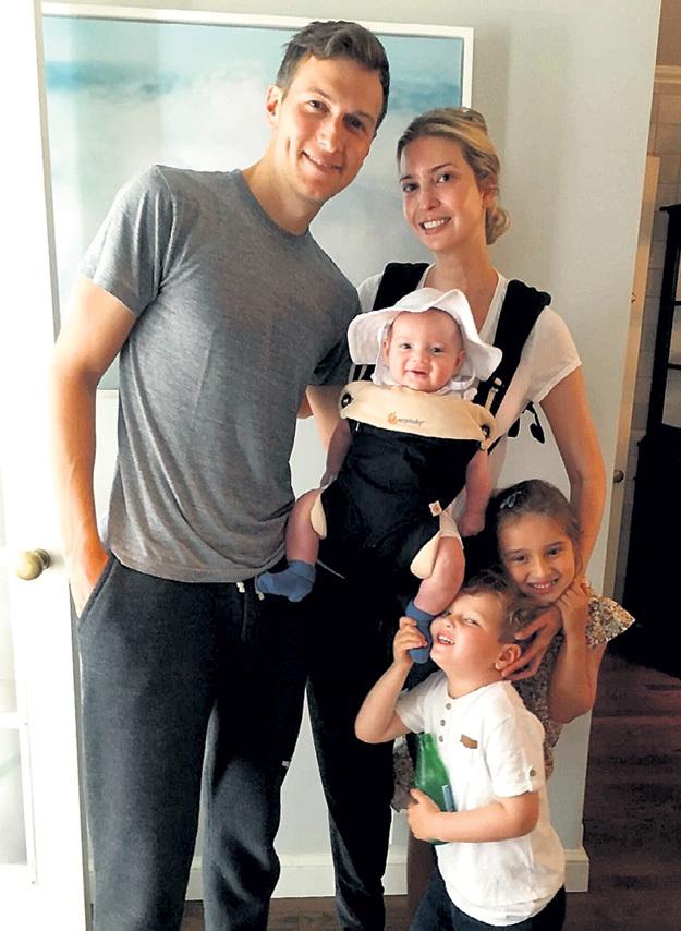Семейному счастью переделки в лице и теле не помешали (Иванка с мужем Джаредом и детьми). Фото: Instagram.com