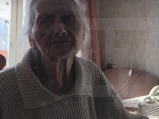 Бабушка Вороненкова Александра Петровна (Фото кадр из видео)