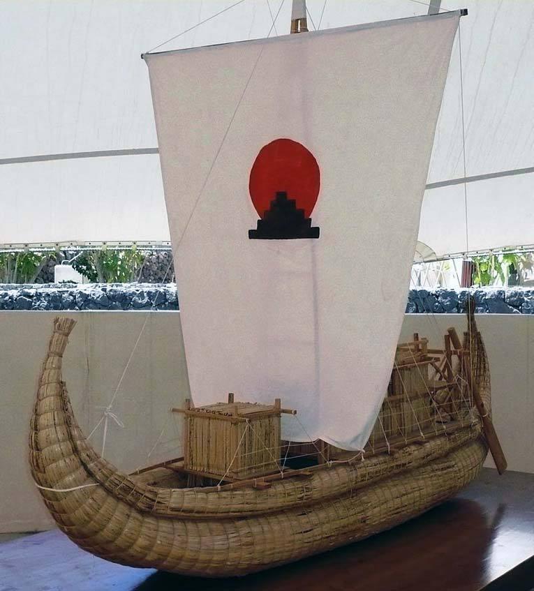 Модель лодки «Тигрис». Фото: Википедия