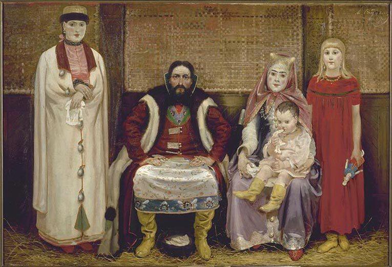 Андрей Рябушкин. Семья купца в XVII веке. 1896 год. Источник: Википедия