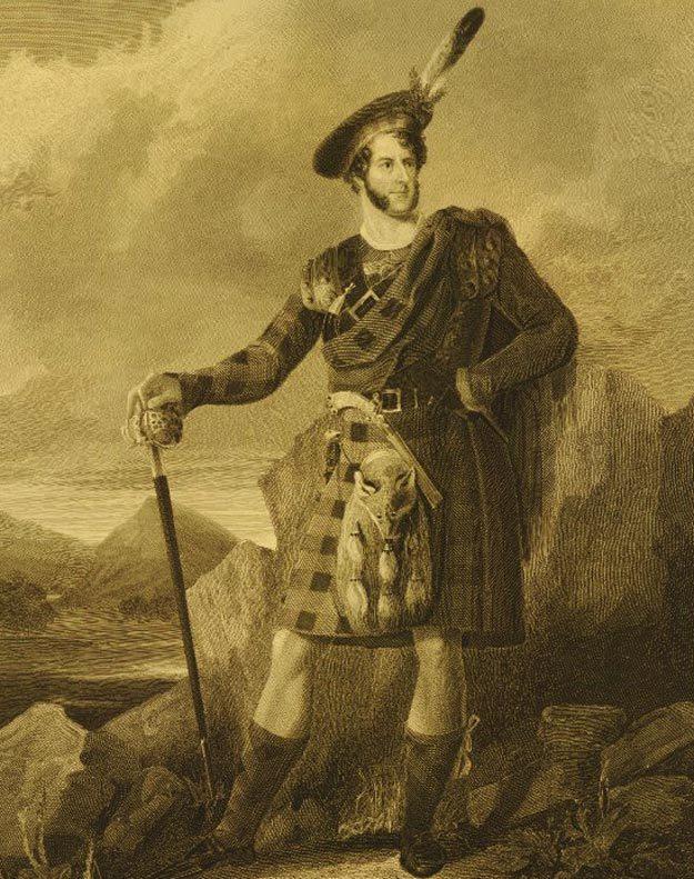 Потрет Джона Лэнгфорда извесный как Роб Рой. Фото: Википедия