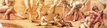 НЕМЕЦКАЯ ГРАВЮРА XVIII в.: чистоплотные арийцы любили ходить в баню с женами, детьми и собаками