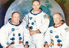 ПЕРВЫЕ ЛЮДИ НА ЛУНЕ: Армстронг, Коллинз, Олдрин
