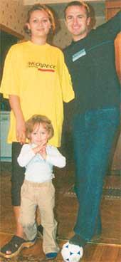 КОРОМАН: с женой Ирэной и старшей дочкой Нэдой