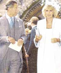 ПРИНЦ ЧАРЛЬЗ И КАМИЛЛА: на свадебной церемонии