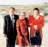 СЕМЬЯ: Анна Михайловна с Эрихом и его женой Ингой
