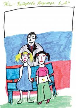 НАДЯ КАБЛУКОВА (12 лет): президент гуляет с любимыми дочками Машей и Катей