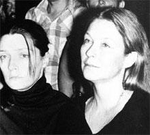 28 ИЮЛЯ 1980 ГОДА: первую жену Владимира Семеновича Людмилу Абрамову (слева) и Марину Влади сплотило одно горе