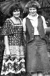 Екатерина и Лариса, жена Виктора КОЛЕСНИКОВА, в Абхазии...