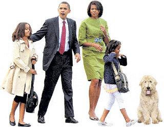 Щенок лабрадудля вскоре станет неотъемлемой частью семейных фотографий президентского клана