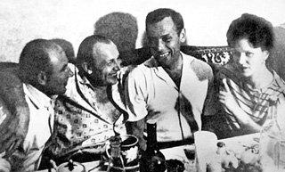 Кеша ( второй слева) с близким другом Жорой ЖЖЕНОВЫМ в Норильске (1950 г.)