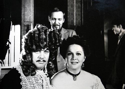 С Александром ШИРВИНДТОМ и Натальей ГУНДАРЕВОЙ на съёмках Мнимого больного