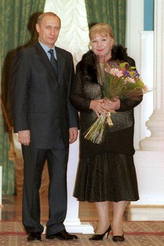 Ольга АРОСЕВА с Владимиром ПУТИНЫМ