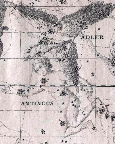 Созвездие Антиной ныне считается частью созвездия Орла. wikipedia