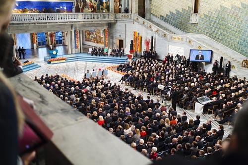 Церемония вручения Нобелевский премии, 2012 г. Фото: flicr.com
