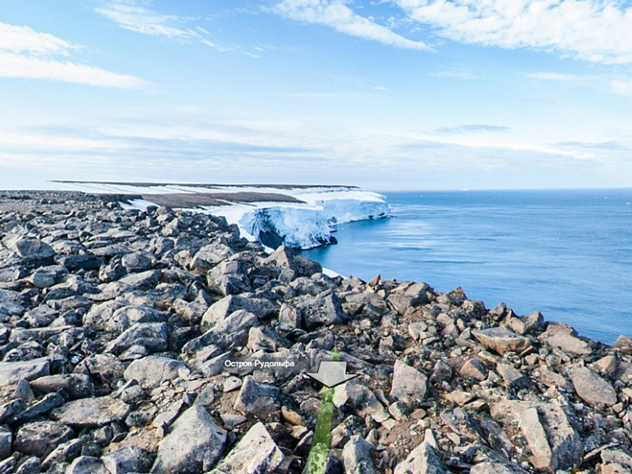 Самая северная точка России. Источник: Яндекс.Панорамы