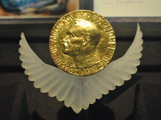 Медаль Нобелевской премии мира. Фото: wikimedia