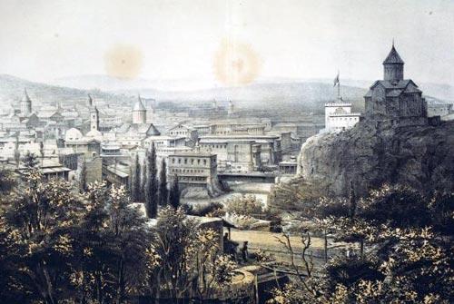 Тифлис 1852 года, иллюстрация В. Тимма