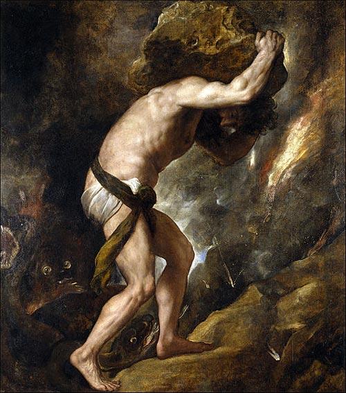 Сизиф. Картина Тициана